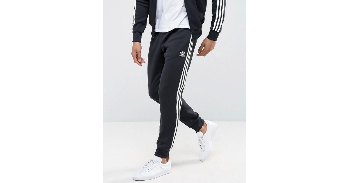 separation shoes 67428 668f9 Lyst - adidas Originals Superstar Cuffed Track Pants Aj6960 in Black for Men