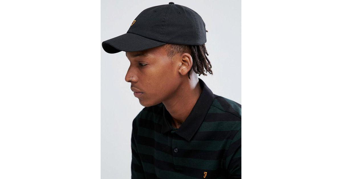 Lyst - Farah Thorney Twill Baseball Hat In Black in Black for Men 66ac2b57897