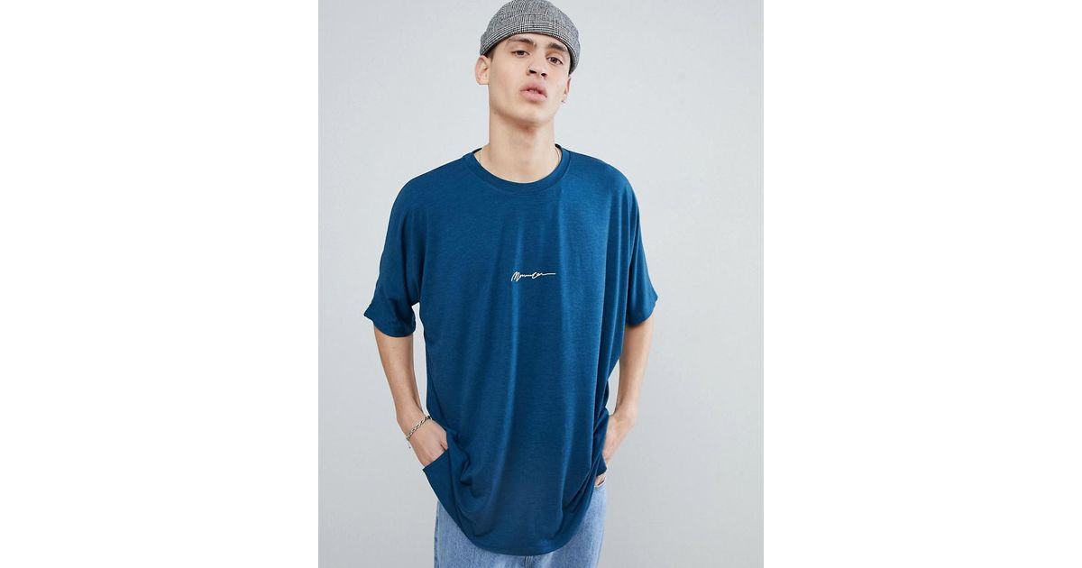 Oversized Logo T-Shirt In Teal - Green Mennace Free Shipping Factory Outlet 100% Guaranteed Cheap Online In China Sale Online Discount Clearance Store p8fWEKXmB9