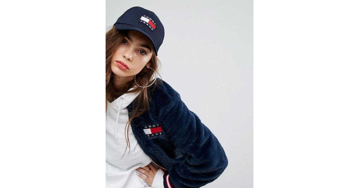 Lyst - Tommy Hilfiger Tommy Jean 90s Capsule Baseball Cap in Blue ced48467cae