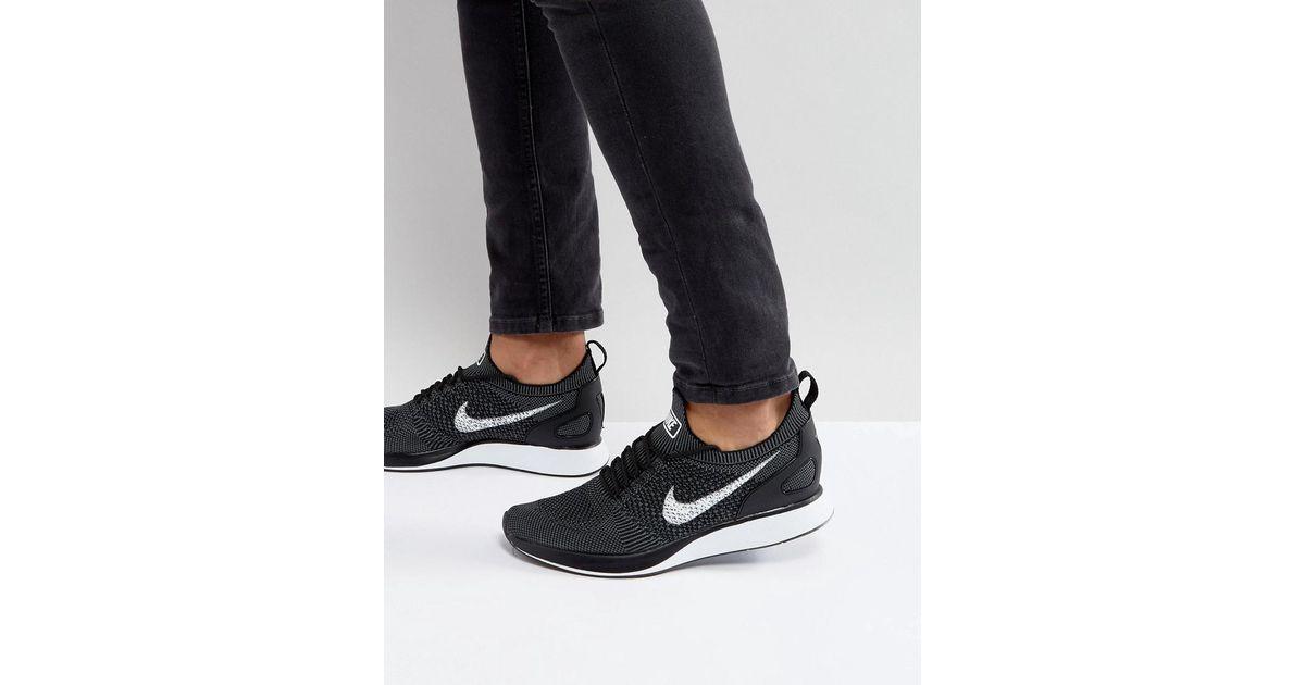 fcecc1f90b65c Nike  fast Pack  Air Zoom Mariah Flyknit Racer Sneakers In Black 918264-001  in Black for Men - Lyst