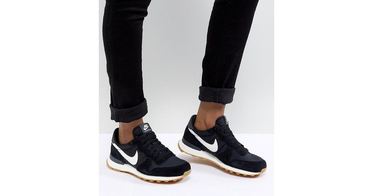 the latest ac0ec ab4f4 Nike Internationalist Nylon Sneakers In Black And White in Black - Lyst