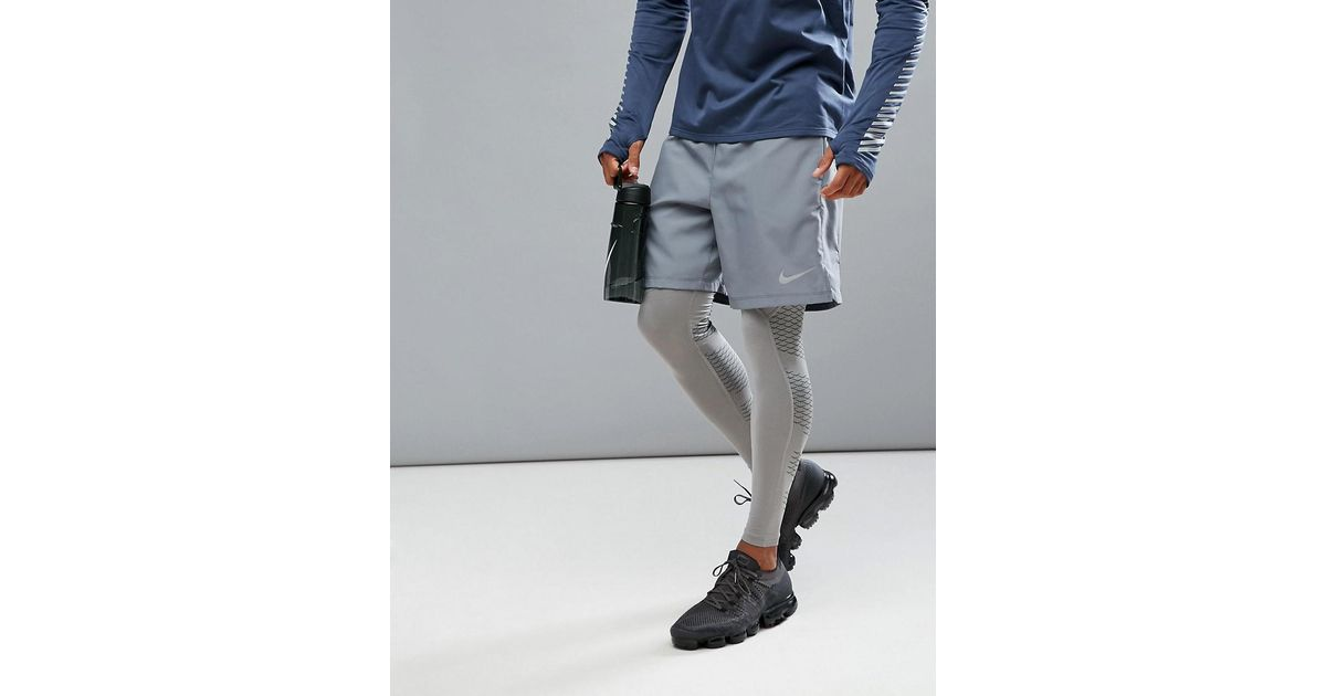 8a2d4c851fee Nike Flex Challenger 7 Inch 2-in-1 Shorts In Grey 856832-065 in Gray for  Men - Lyst