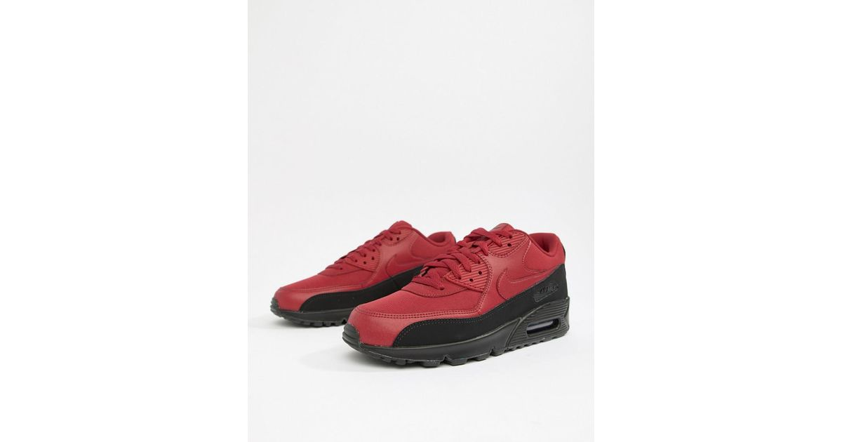 0b446a718c2 Nike Air Max 90 Essential Sneakers In Red Aj1285-010 in White for Men - Lyst