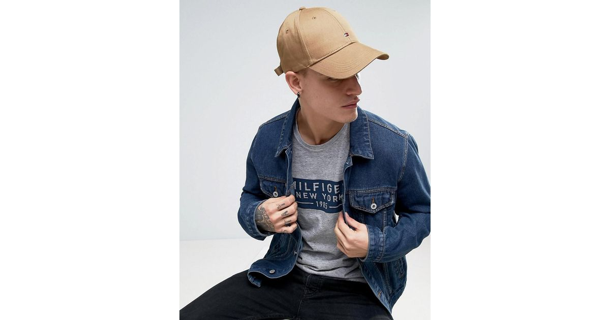 Lyst - Tommy Hilfiger Classic Flag Baseball Cap Tan in Brown for Men d8e8c62897d