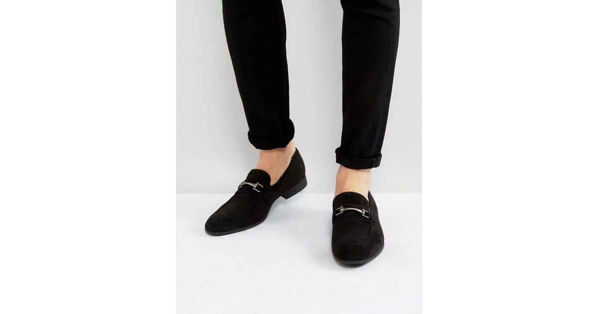 ASOS Loafers In Black Faux Suede With Snaffle Detail shop offer online new arrival cheap online cheap wiki for sale itp9kB