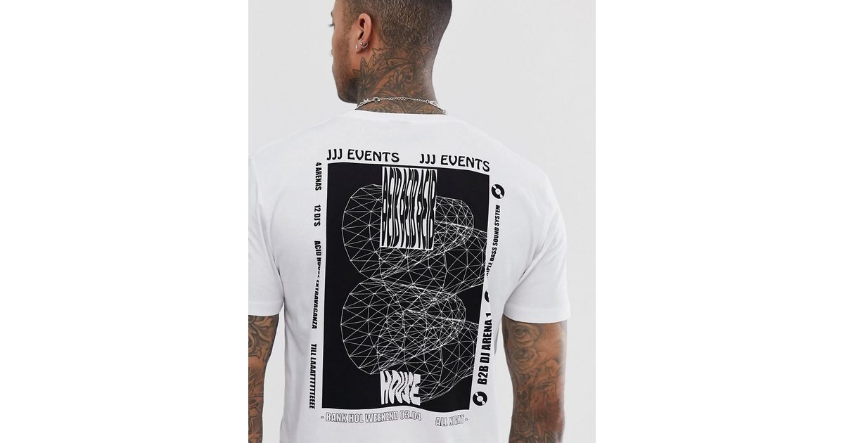 watch reliable quality official ASOS - White Relaxed T-shirt With House Music Back Print for Men - Lyst