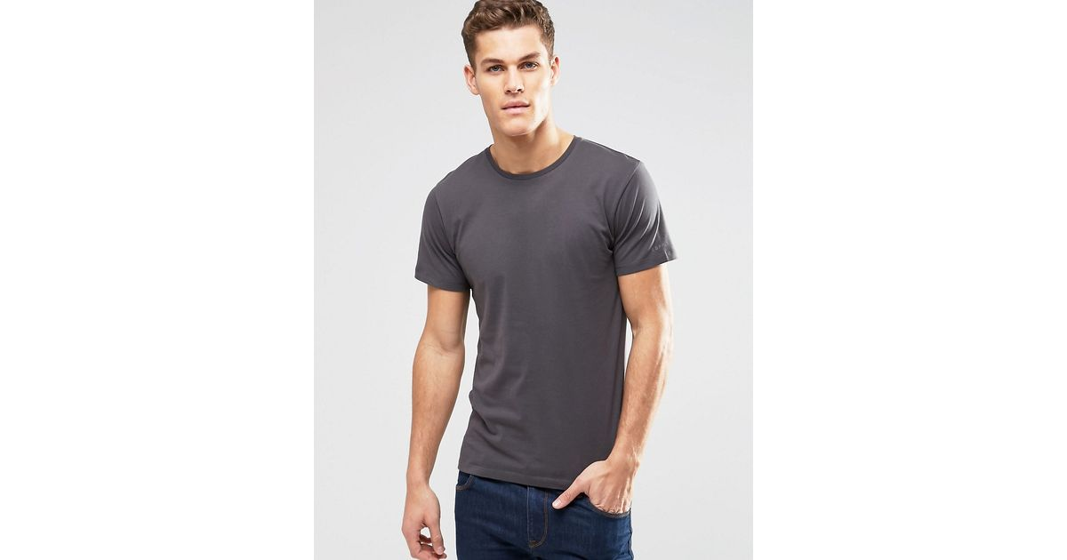 esprit basic crew neck t shirt in mineral grey grey in. Black Bedroom Furniture Sets. Home Design Ideas