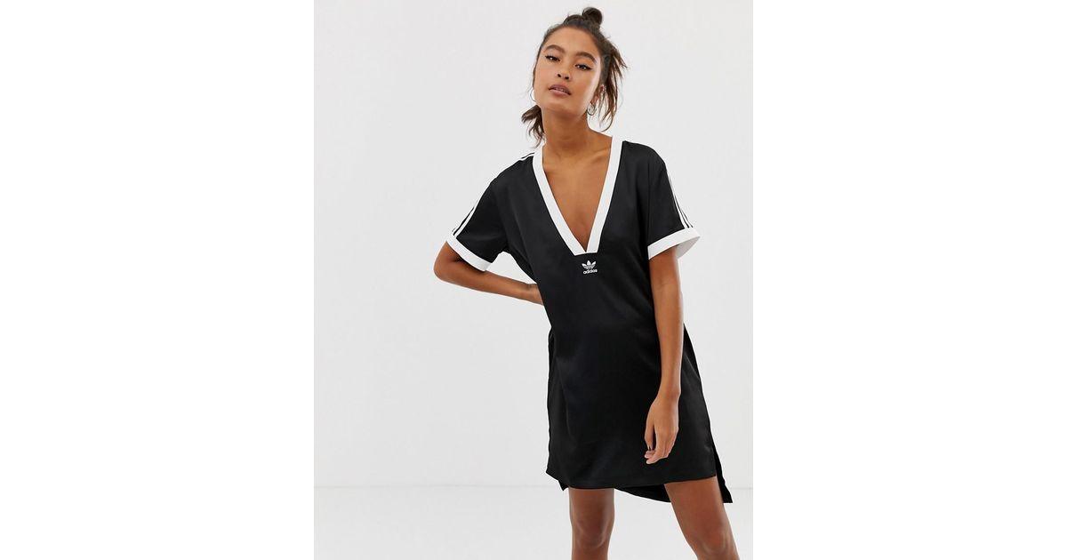 Lyst - adidas Originals Fashion League V Neck T-shirt in Black afe31a7e86575