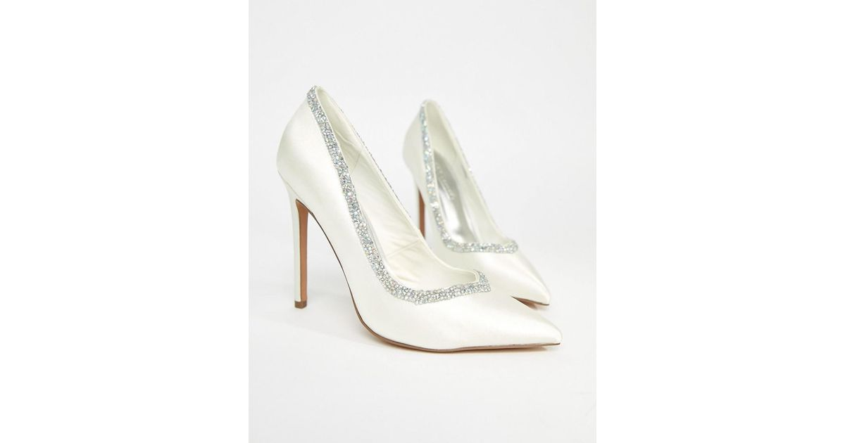 b5fc7f3f8ce ASOS Phoenix Bridal High Heeled Pumps In Ivory in White - Lyst