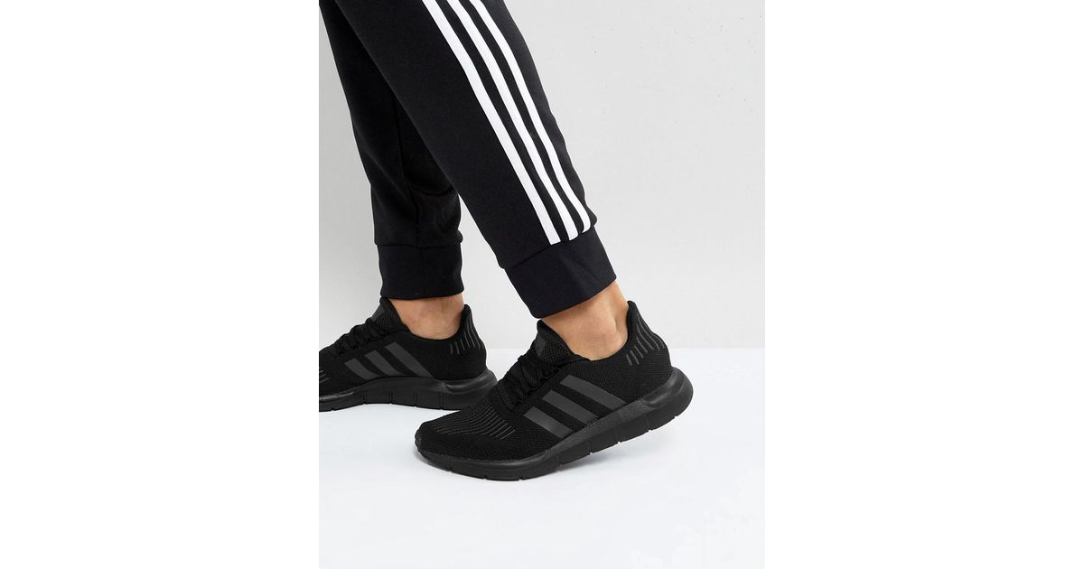 brand new 27625 e63e8 Lyst - adidas Originals Swift Run Sneakers In Black in Black for Men - Save  3%
