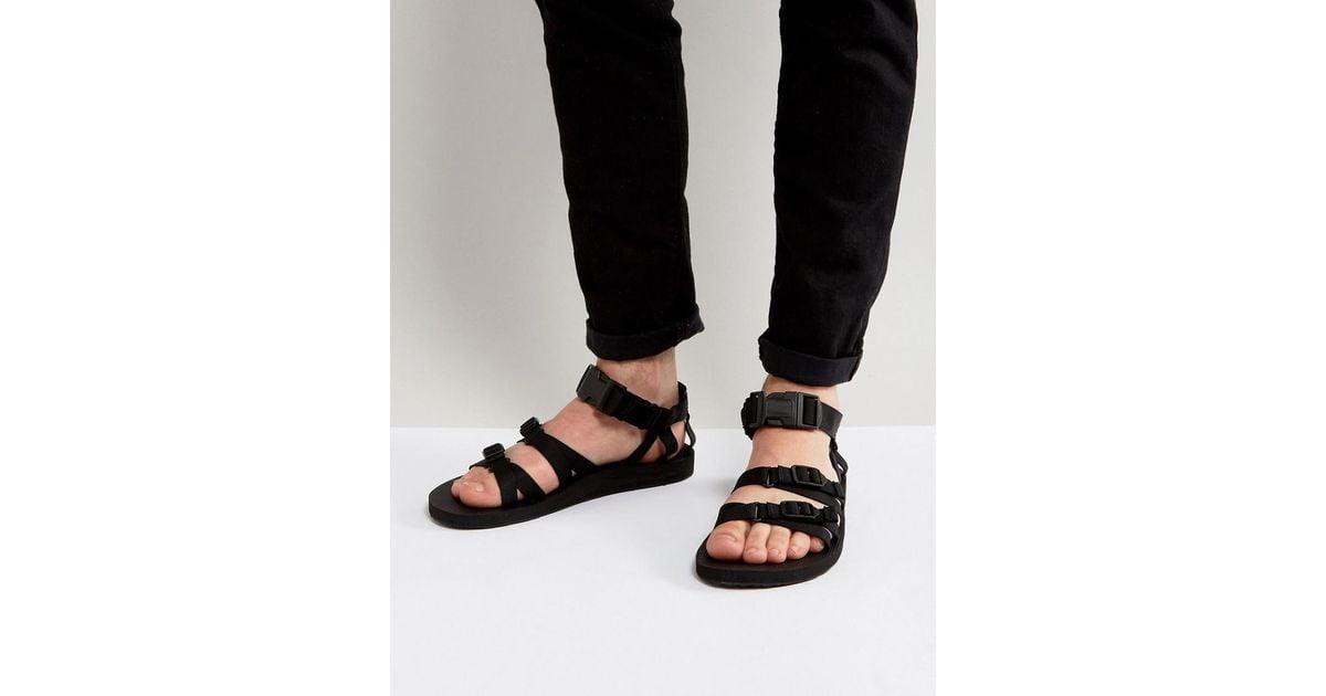 e7265521f96 Lyst - Teva Alp Canvas Multi Strap Sandals in Black for Men