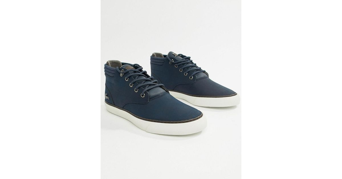 ad31d47a2 Lacoste Esparre Winter C 318 3 Chukka Boots In Navy in Blue for Men - Lyst