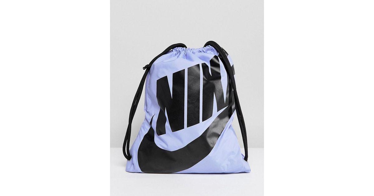 882e5fe56c Sac à cordon de serrage Nike en coloris Violet - Lyst