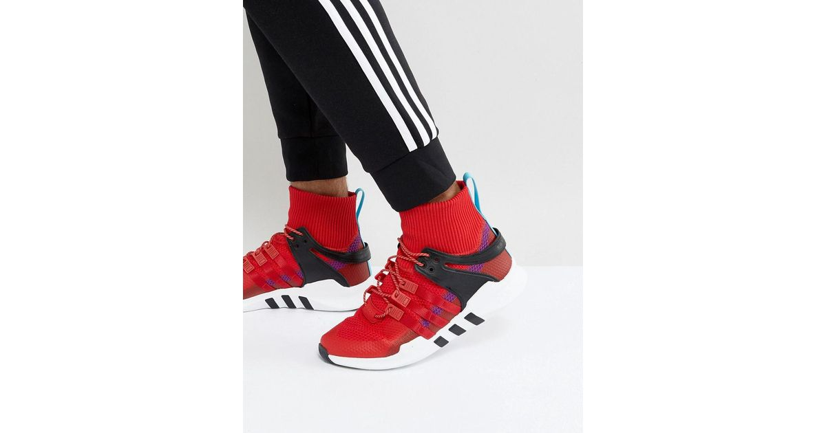 info for f1d0a 63b26 Lyst - adidas Originals Eqt Support Adv Winter Trainers In Red Bz0640 in Red  for Men