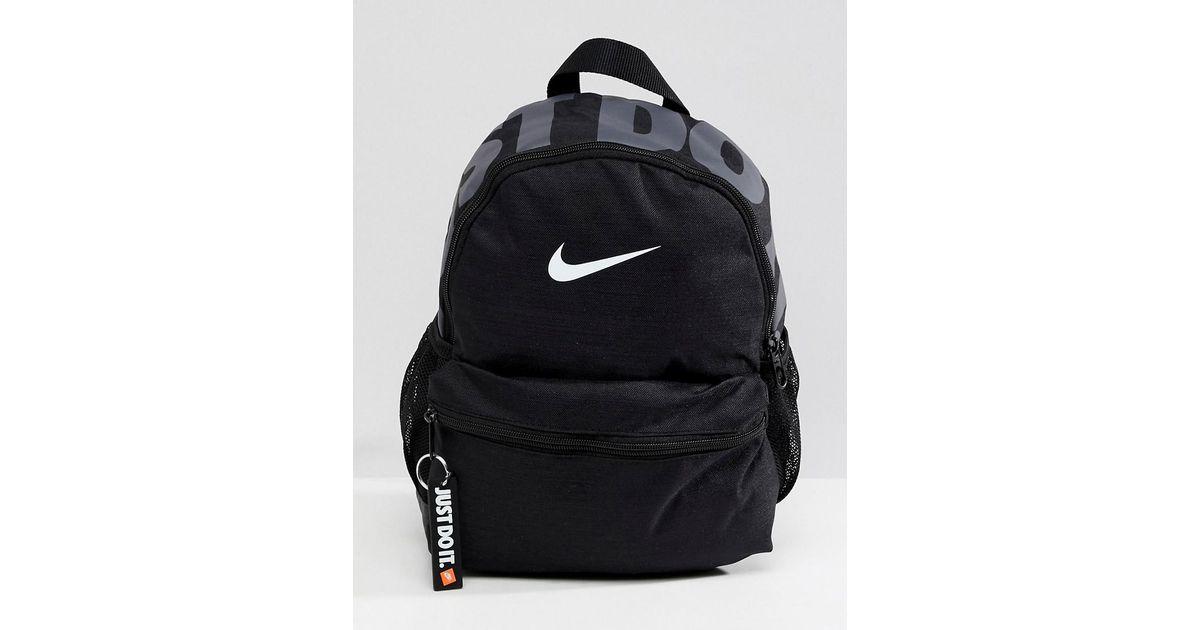 Nike Black Just Do It Logo Mini Backpack in Black - Lyst aec6b3a43