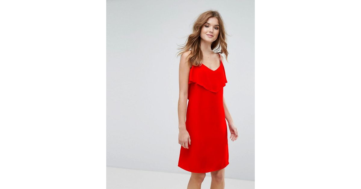 Sale With Mastercard Cami Dress With Frill Overlay - Red Lavand Cheap Sale Pay With Paypal Big Discount Free Shipping Pre Order m1uEKC