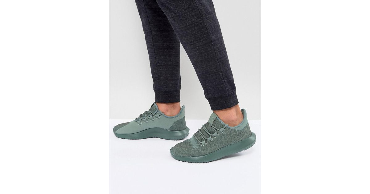new concept d10d5 2eaa1 adidas Originals Tubular Shadow Trainers In Green By3573 in Green for Men -  Lyst