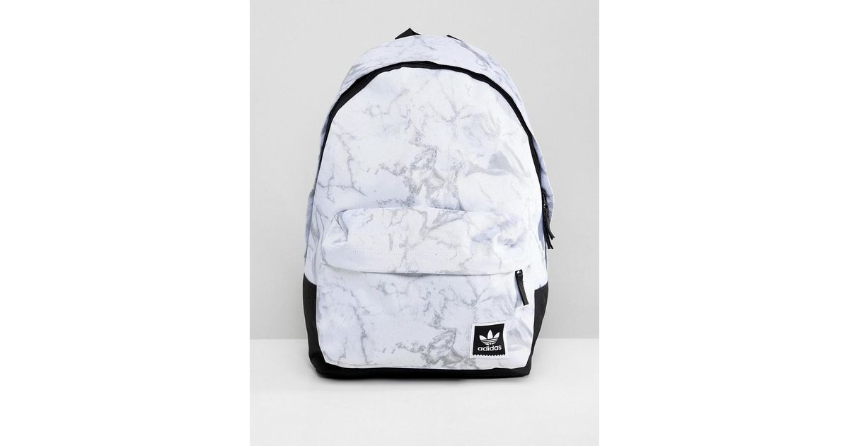 8ea8d7822e adidas Originals Marble Print Backpack In White Dh2570 in White for Men -  Lyst