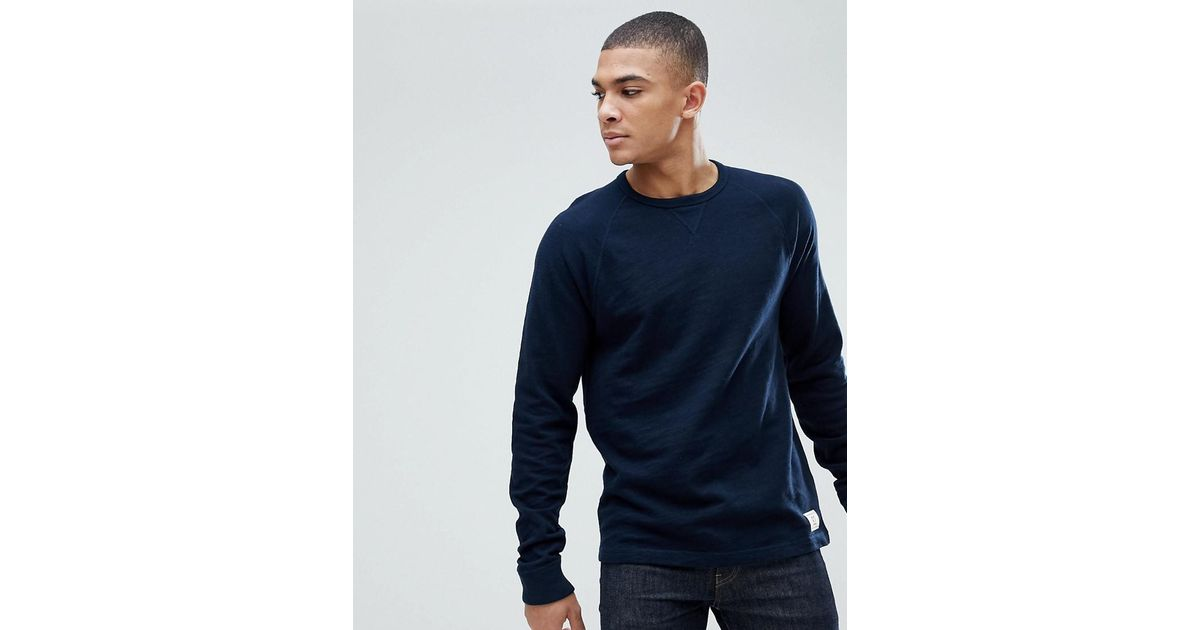 193f0bf5 Abercrombie & Fitch Long Sleeve Baseball Top In Navy in Blue for Men - Lyst