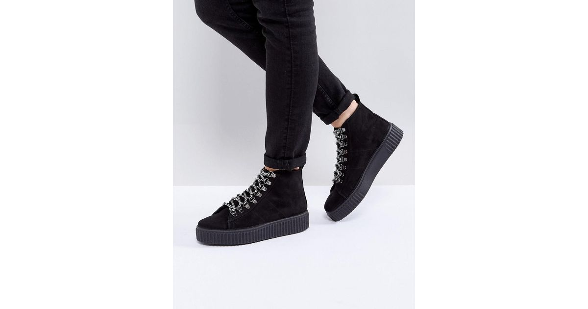 ASOS ABSTRACT Hiker Ankle Boots gCaK5Wb2V