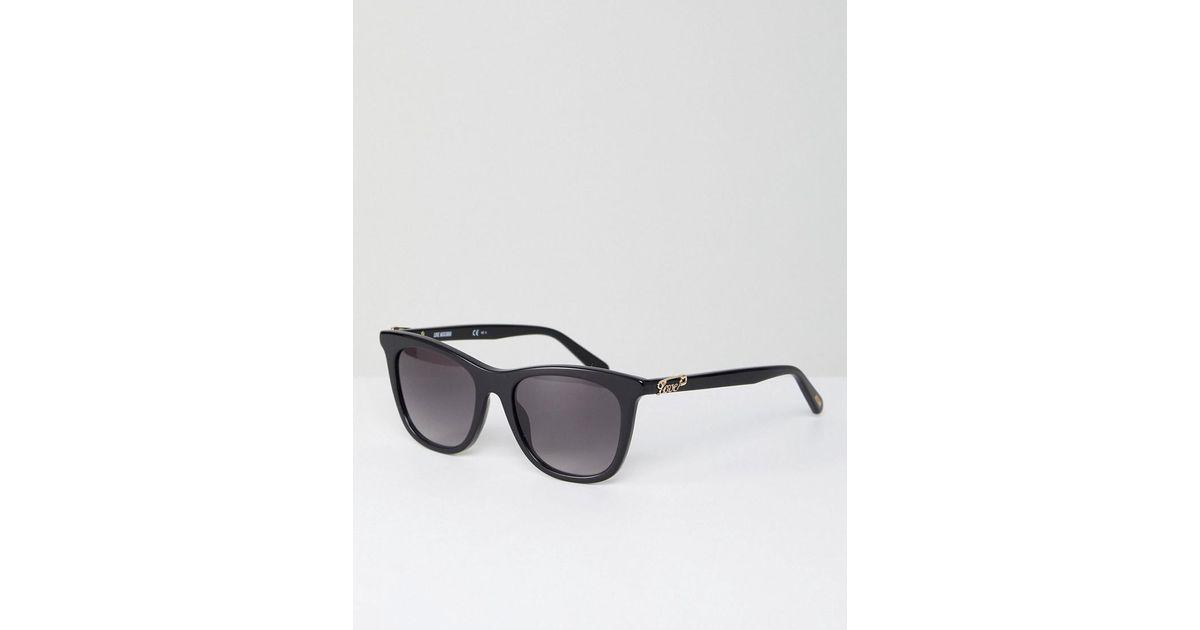 b1ca4dddbe7 Lyst - Love Moschino Square Sunglasses In Black in Gray for Men