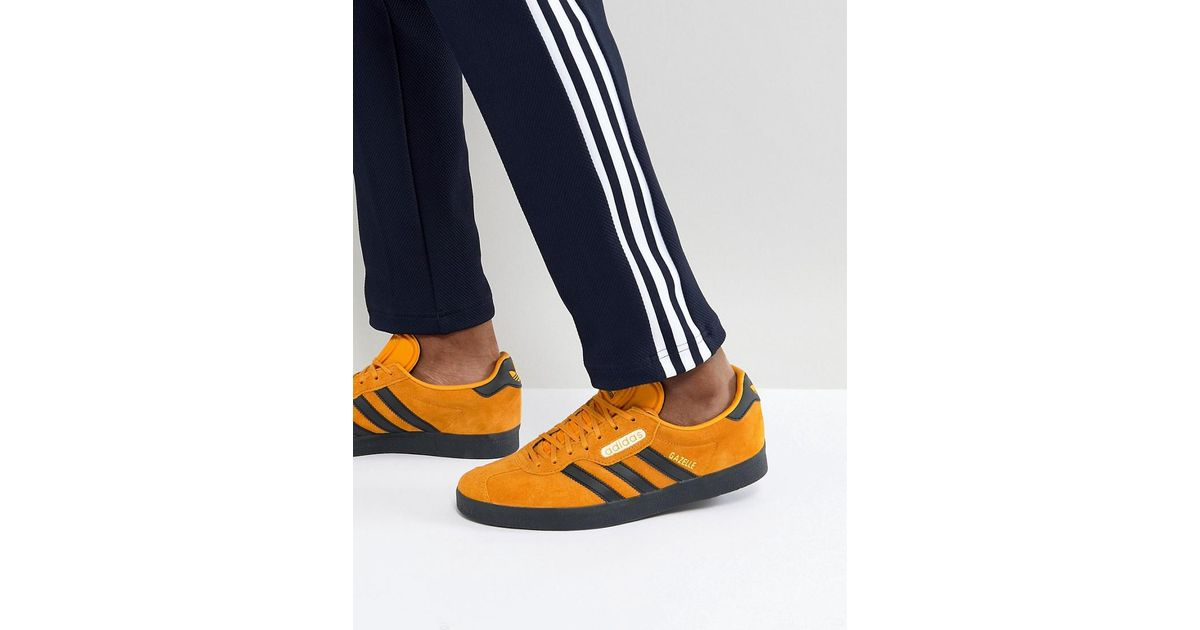 8a08306d934a49 Lyst - adidas Originals Gazelle Sneakers In Yellow Cq2795 in Yellow for Men