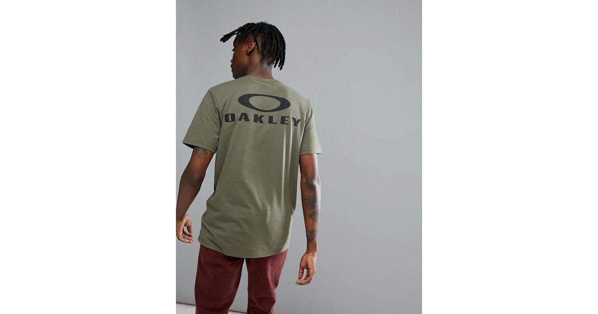 Print Green Dark Back 50 Bark Logo Shirt Lyst Oakley In T P0qFwxvZ