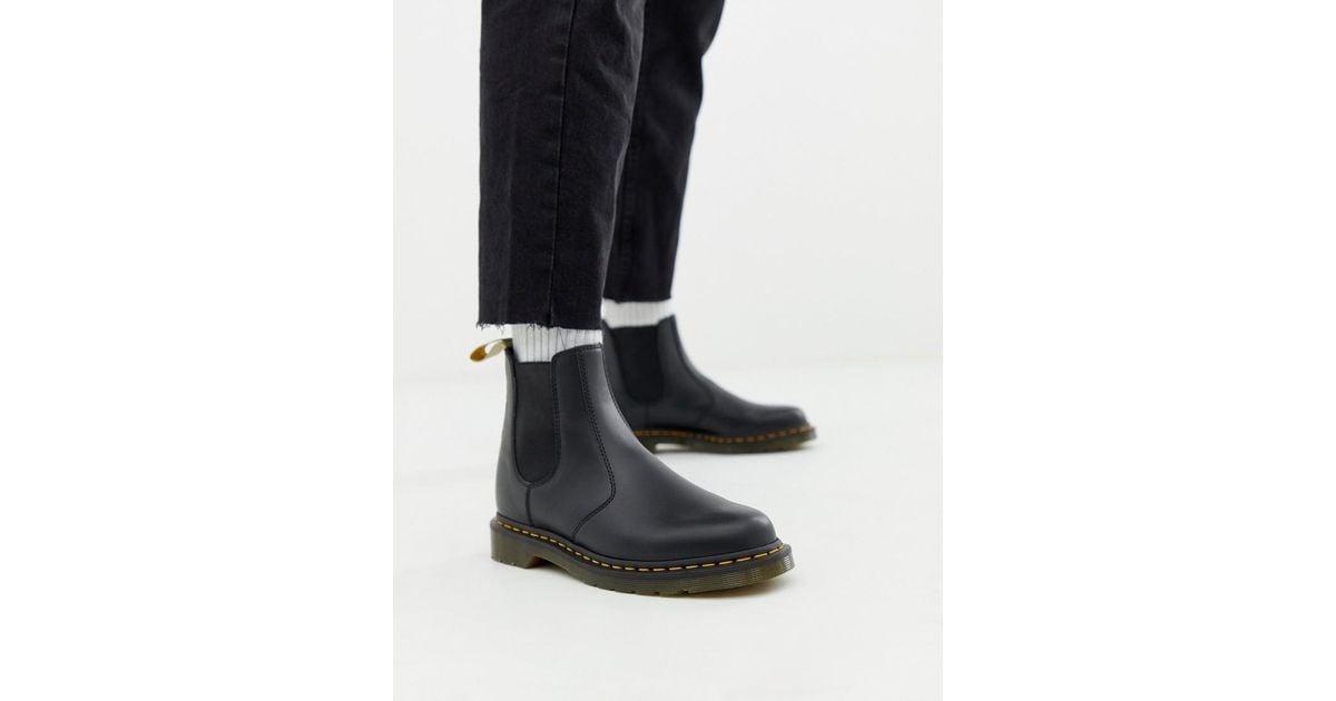 62aff0b20da0 Lyst - Dr. Martens Vegan 2976 Chelsea Boots In Black Smooth in Black for Men