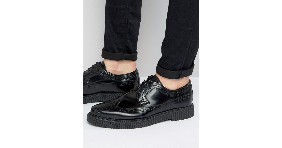 Lace Up Shoes In Black Leather With Creeper Sole - Black Asos Choice For Sale Free Shipping Outlet Locations Excellent For Sale Extremely Cheap Online kxRIOXb