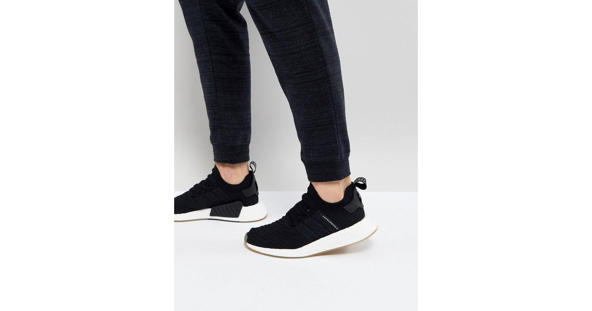 259881e6648a7 Lyst - adidas Originals Nmd R2 Primeknit Sneakers In Black By9696 in Black  for Men