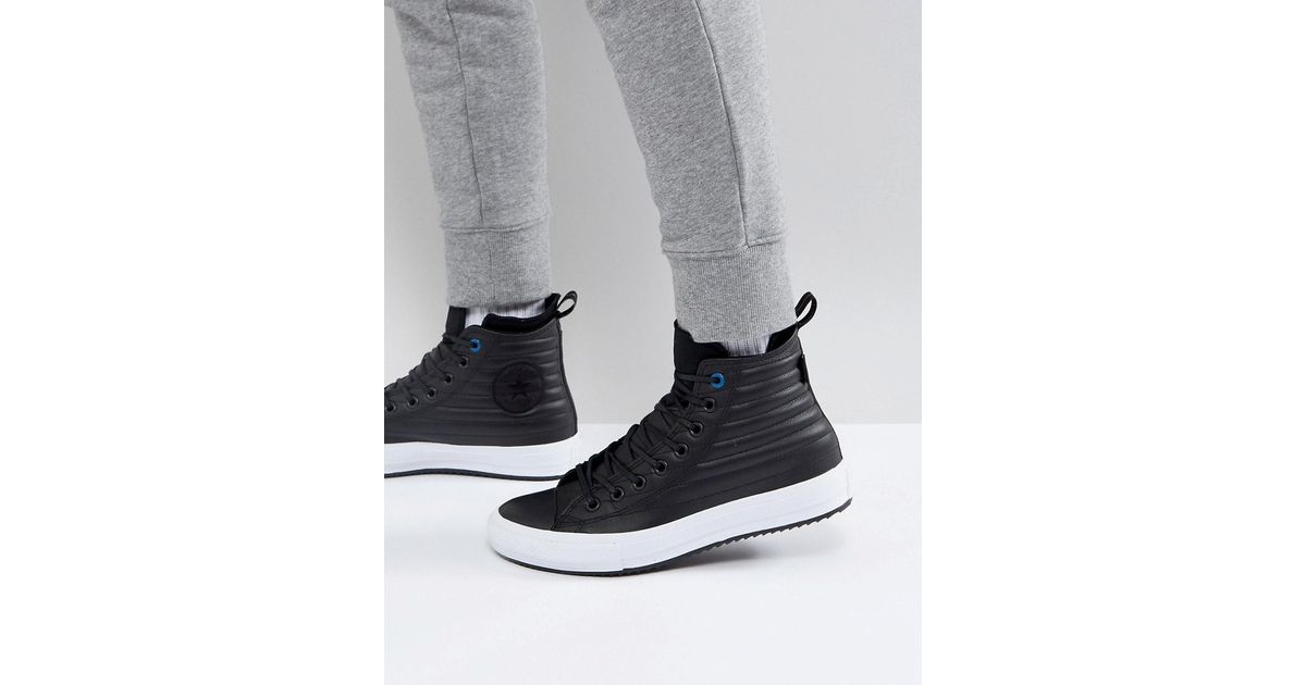 6efdc8fd98ed Lyst - Converse Chuck Taylor All Star Boot Trainers In Black 157492c in Black  for Men