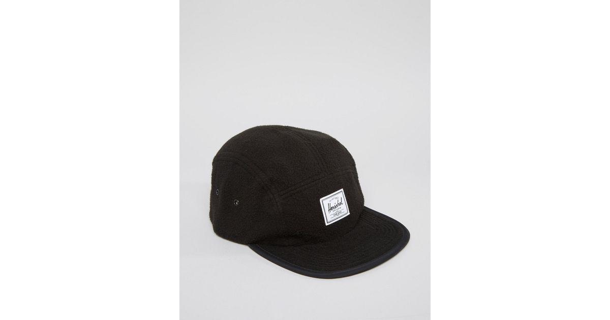 b4aa767188c5de Lyst - Herschel Supply Co. Glendale Cap In Fleece in Black for Men