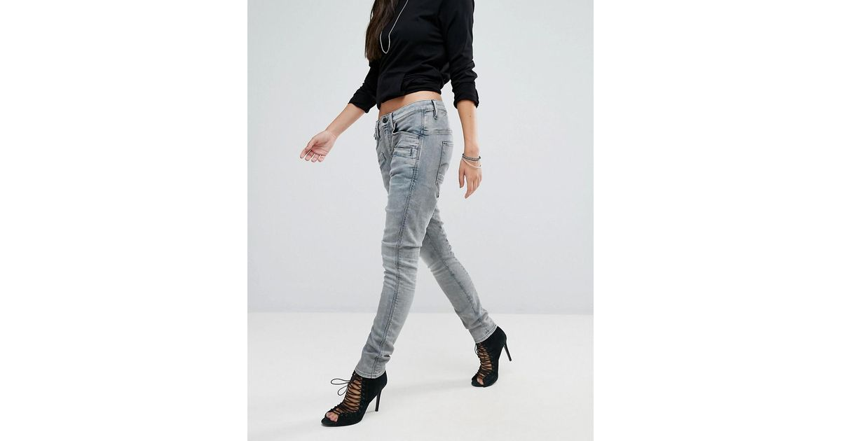g star raw dadin low boyfriend jeans in blue lyst. Black Bedroom Furniture Sets. Home Design Ideas