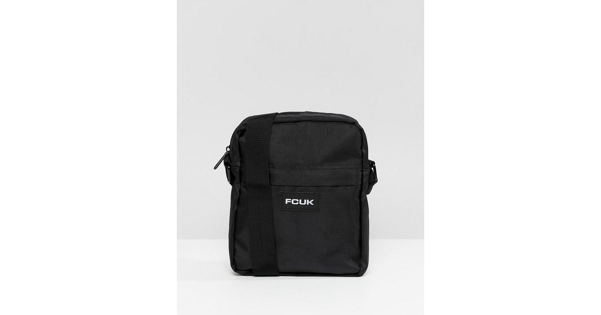 58387d95a1fe Lyst - French Connection Nylon Flight Bag in Black for Men