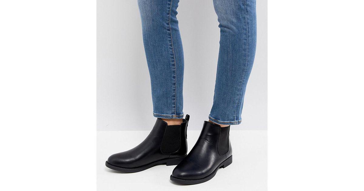 247bbe5e00709 Park Lane Wide Fit Flat Chelsea Boots in Black - Lyst