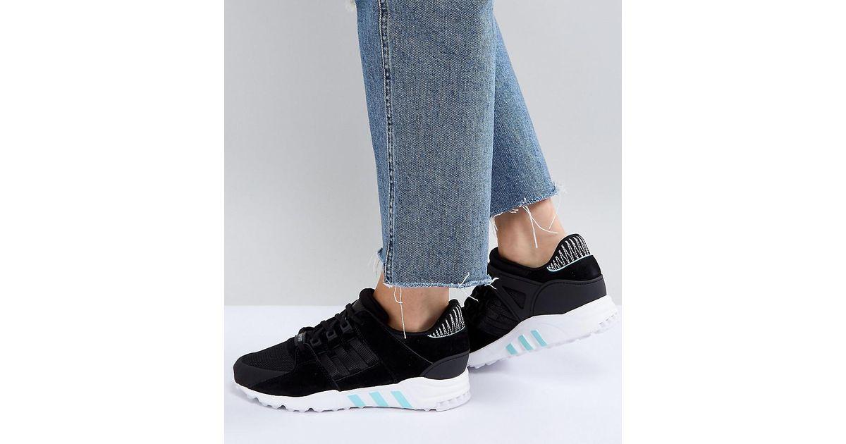 low priced ea864 e5a75 Adidas Originals - Originals Eqt Support Rf Sneakers In Black - Lyst