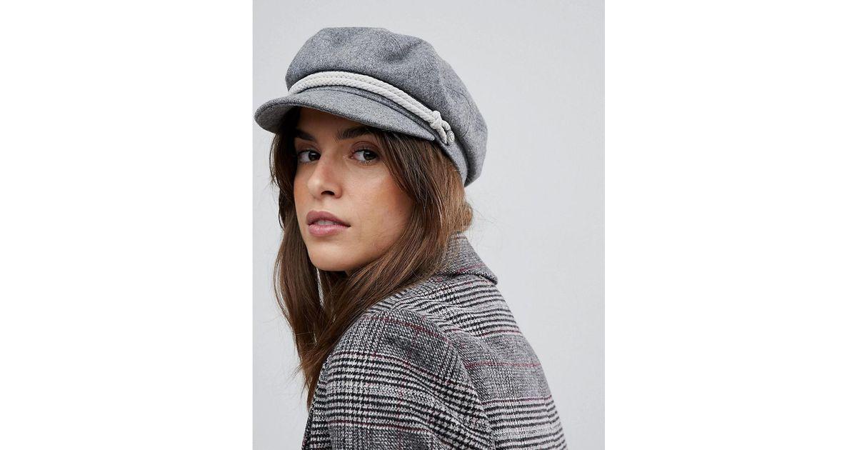 7bb54173e Brixton Baker Boy Hat In Gray