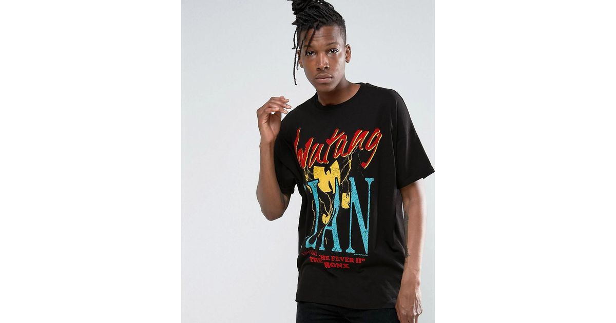 1c4c4eedc Asos Wu Tang Clan Super Oversized Band T-shirt With Retro Print in Black  for Men - Lyst