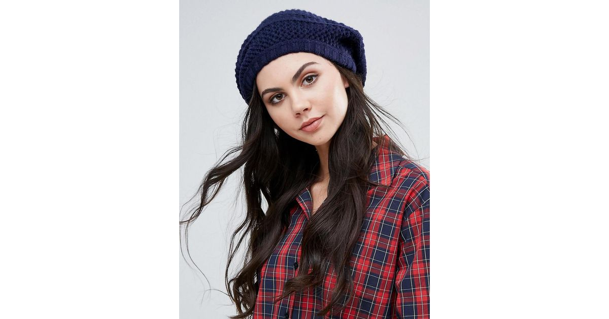 89d1065a19f26 Lyst - Alice Hannah Textured Beret Hat in Black