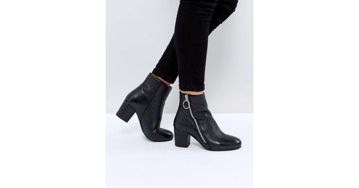 e73d3b7f93c3e Park Lane Leather Side Zip Boot in Black - Lyst