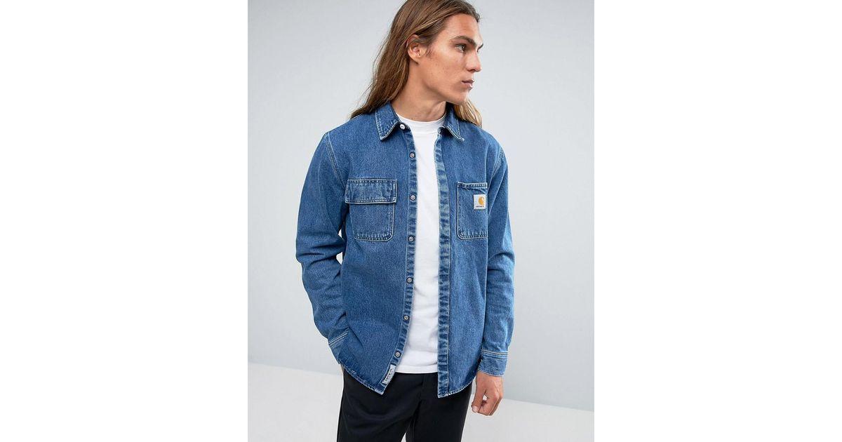 962670020c Lyst - Carhartt WIP Salinac Denim Shirt Jacket in Blue for Men