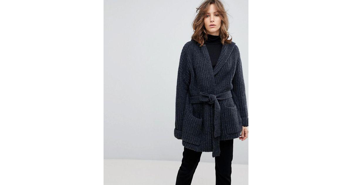 nouveau produit dd532 1e03b SELECTED - Gray Femme Oversized Cardigan - Lyst