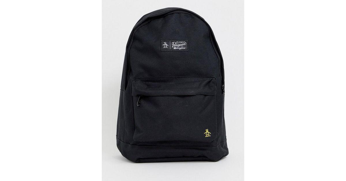 Original Penguin Backpack In Black in Black for Men - Lyst 4017abf445a5d