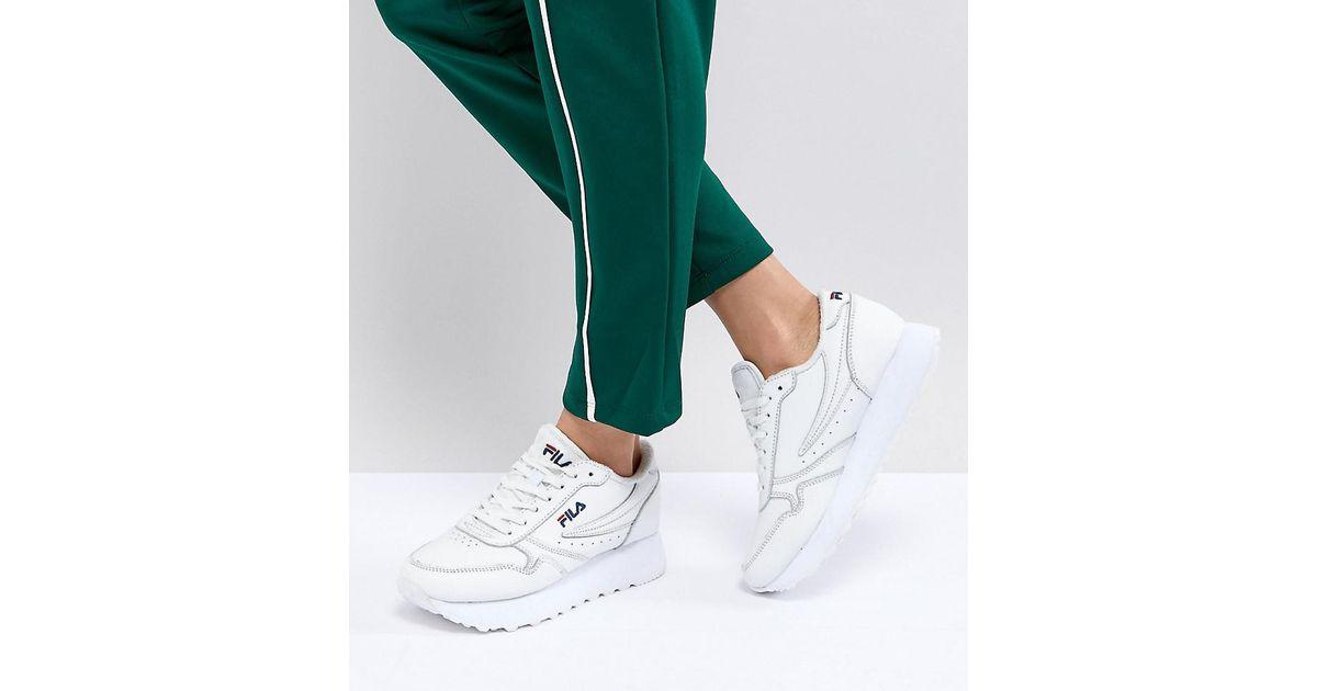 9981a241cd8 Lyst - Fila Platform Orbit Sneakers In White in White