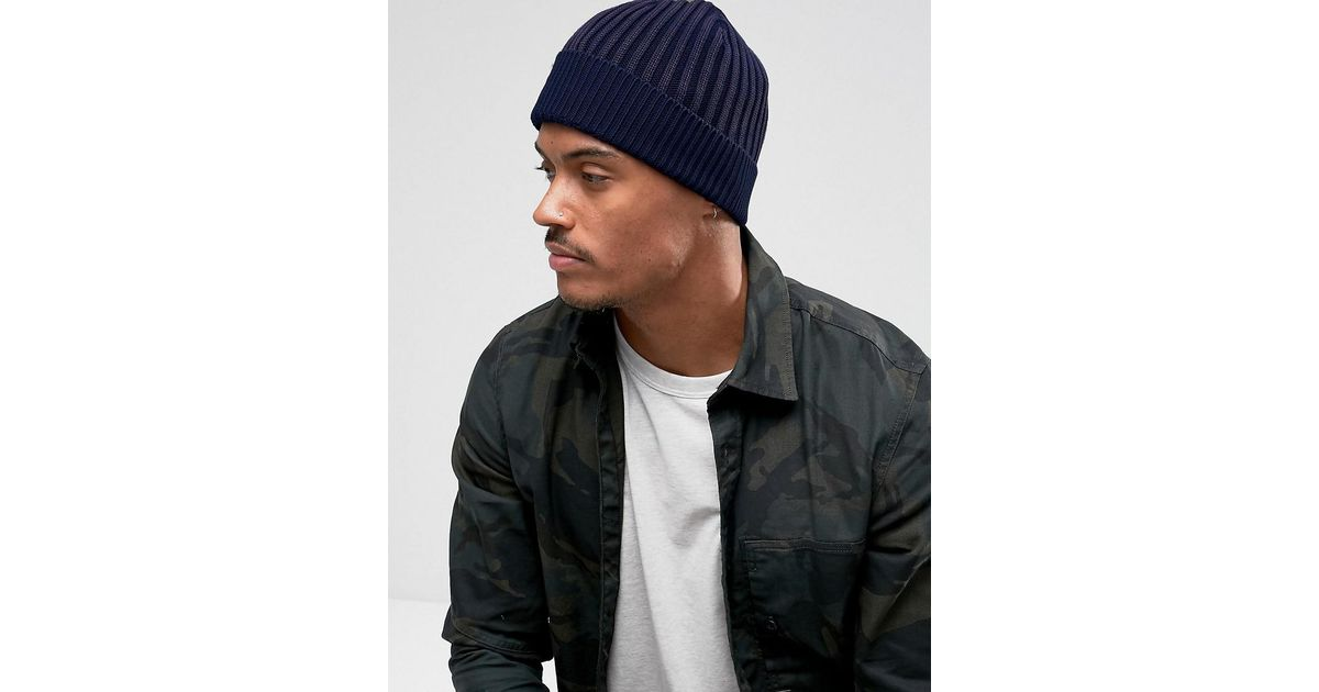 6f294f3c8e7 Lyst - G-Star RAW Wyddo Beanie Hat In Blue in Blue for Men