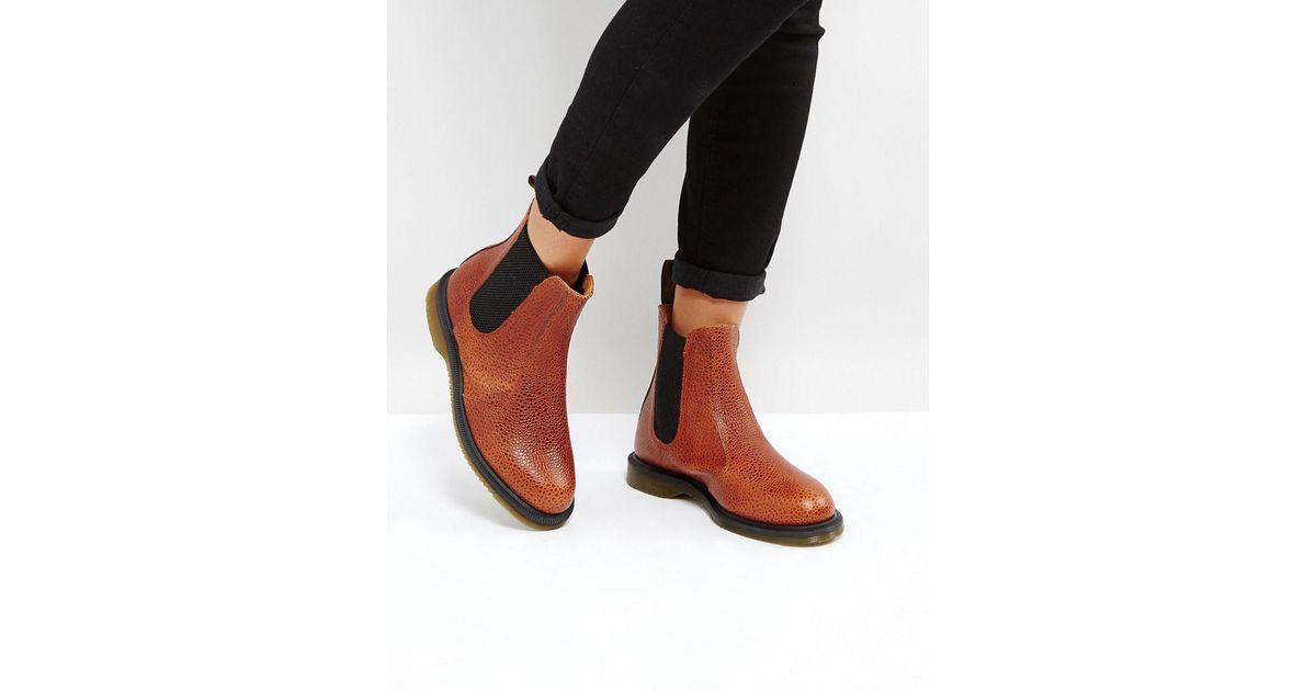 f1e2c9fb69f47 Dr. Martens Kensington Flora Chestnut Chelsea Boots - Lyst