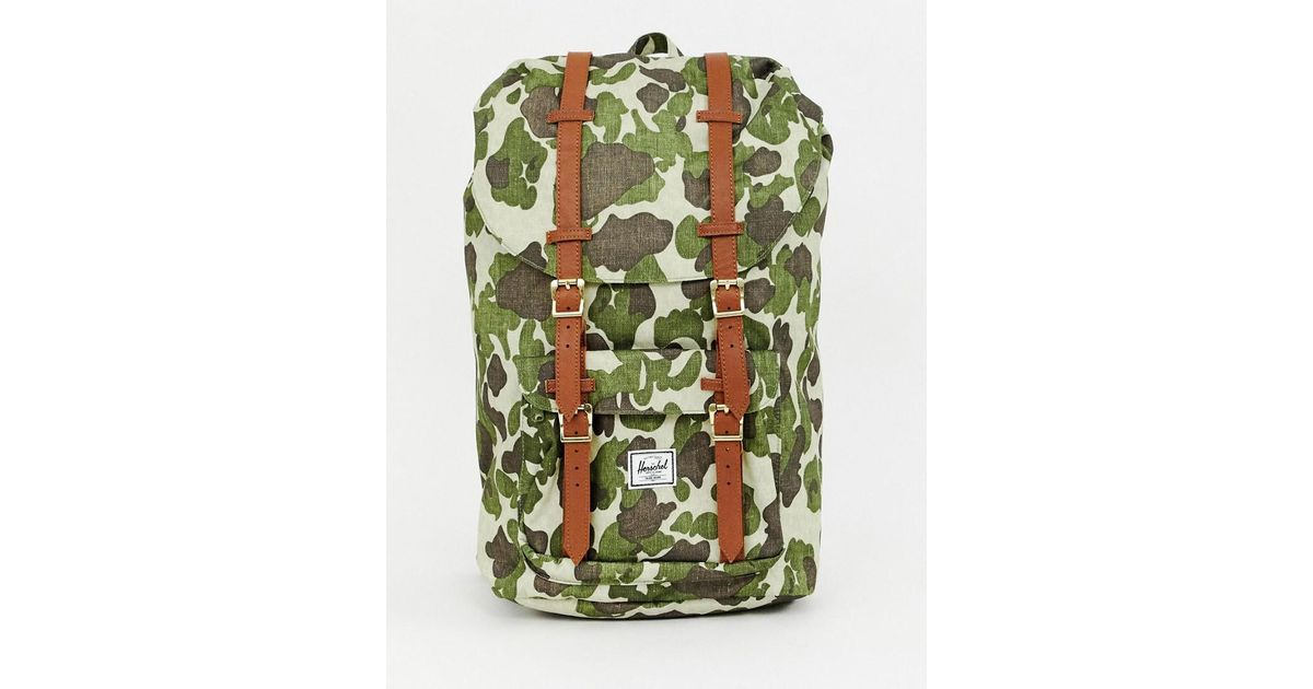 08fcfd57c1a Herschel Supply Co. Little America 25l Backpack In Abstract Camo Print in  Green for Men - Lyst