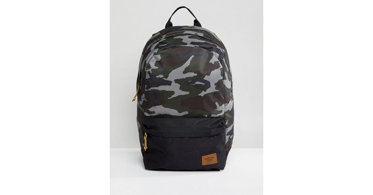 fd3ee086f689 Lyst - Timberland Crofton 22l Backpack In Green Camo black in Green for Men