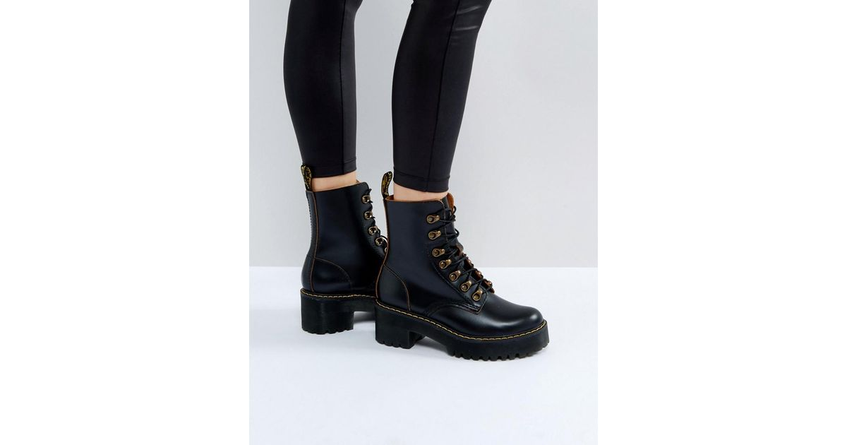 ce393e246 Dr. Martens Leona Lace Boot in Black - Save 36% - Lyst